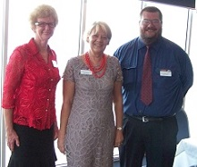 Di Riddell DTM Past Division Governor, Marilyn Freeman Division Governor and Simon Rolfe ACB ALB Area 22 Governor