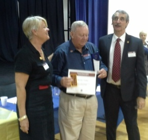 Toastmaster of the Year 20123-2014 Barry Fuller