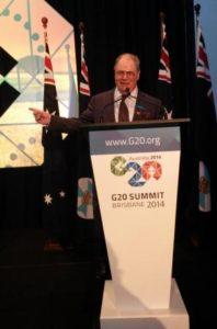 Phillip Bate DTM at the G20 in Brisbane.