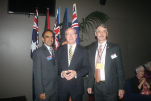 Official opening of 2015 District Convention:  International Vice President Balraj Arunasalam , of Colombo, , Mayor Mark Jamieson, Sunshine Coast Regional Council and District Governor Ian Pinker DTM.