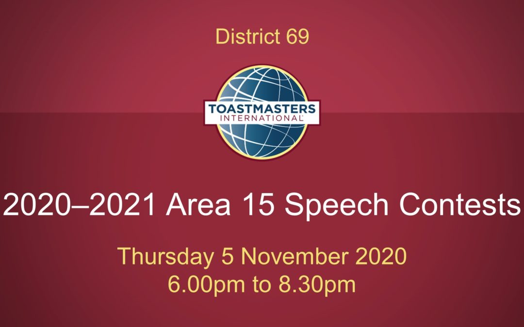 Area 15 Speech Contests