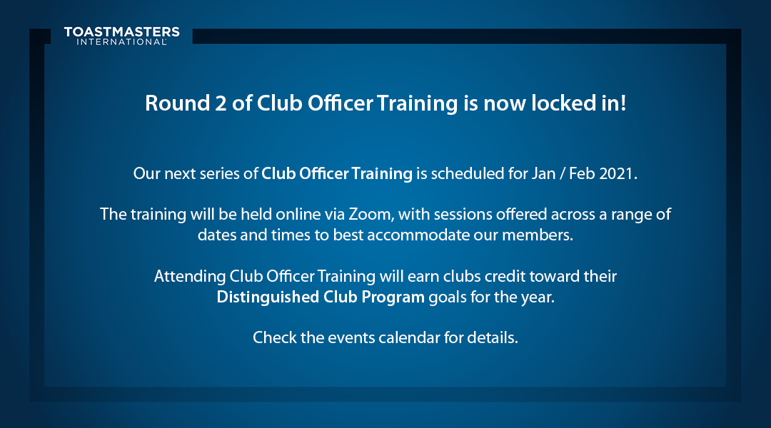 Club Officer Training Round 2